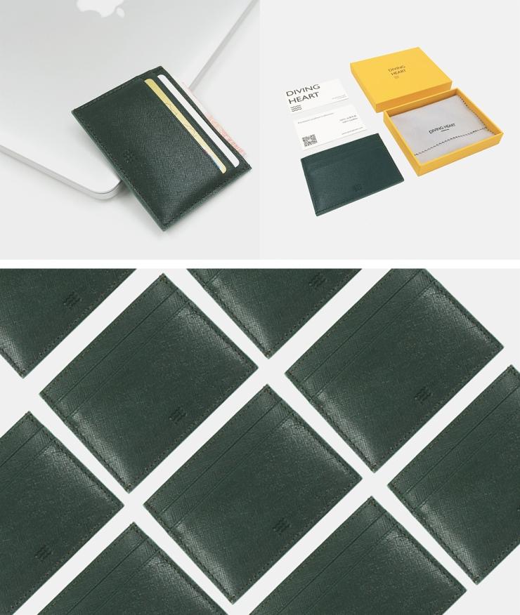 Green cardholder by Y.C.B.